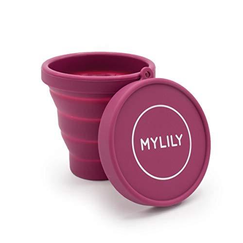 MYLILY Menstruationstassen Case | Reinigungsbecher für die Mikrowelle | Faltbar | Sterilisierbecher für Aufbewahrung und Reinigung | 200ml Fassungsvermögen