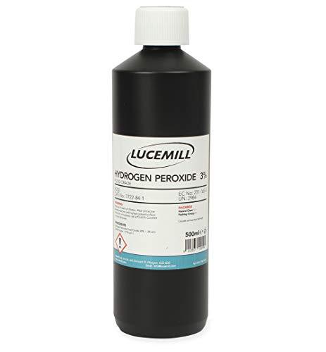Lucemill Packaging Bouteille d'eau oxygénée à 3% de qualité alimentaire 500 ml