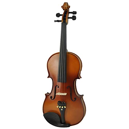Miiliedy Bella in legno massello a mano per principianti prestazioni per adulti per bambini pratica strumenti musicali professionali con violino box arco di colofonia (Color : Brown-1/2)