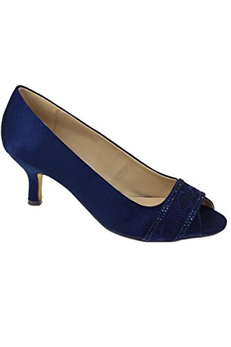Fantasia Boutique, Scarpe col tacco donna Navy (SHOE ONLY)
