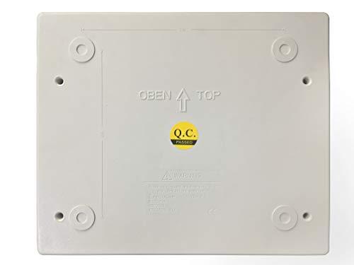 Flin Energy 12 Way ABS Plastic IP66 MCB Distribution Enclosure Box with Transparent Door Cover