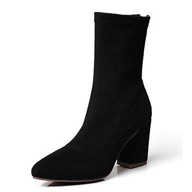 Rtry Femmes Chaussures Tissu Automne Hiver Confort Nouveauté Mode Bottes Bottes Bootie Chunky Talon Toe Booties / Bottines Pour Bureau & Amp; Us6 / Eu36 / Uk4 / Cn36
