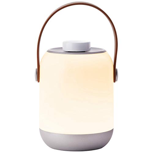 Lampe de table extérieure, LED 1 x 1,58 W intégrée, 1 x 120 lumens, 3000 K, plastique, blanc