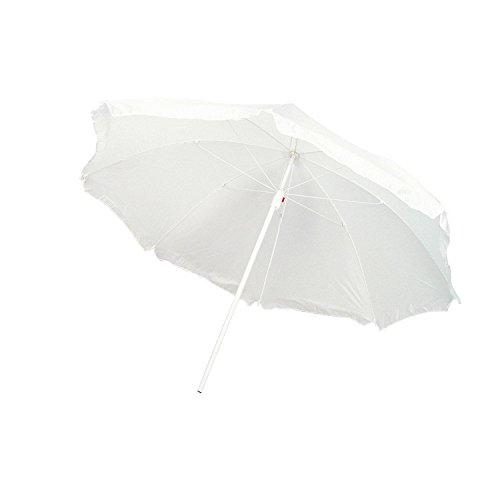 Strandschirm / Sonnenschirm / stufenlos verstellbar / mit Tasche / Farbe: weiß