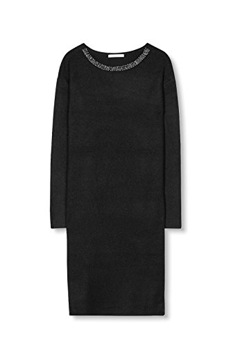 edc by ESPRIT Damen Kleid Schwarz (Black 001)