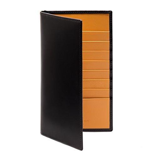 Ettinger - Vertikale Brieftasche aus Leder - Schwarz / Hellbraun