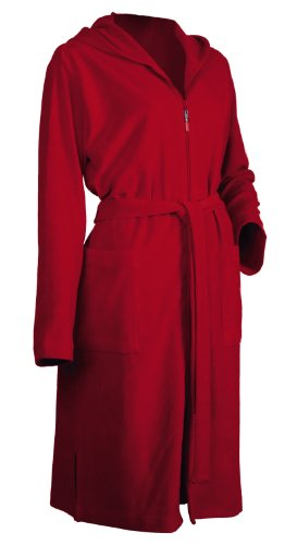 Möve, Accappatoio leggero con cappuccio, Rosso (Rot), XS Rosso (Rot)