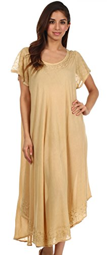 Sakkas Femmes Everyday Essentials Cap manches robe Caftan et Cover Up Sable