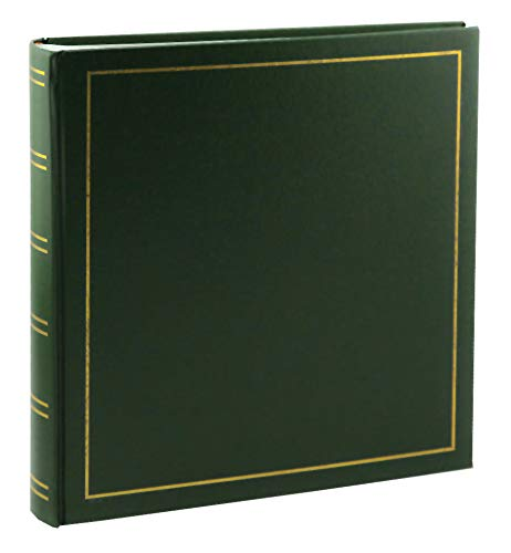 Tradition Fotoalbum in 35x36 cm 80 weiße Seiten Buchalbum Jumbo Foto Album: Farbe: Grün -