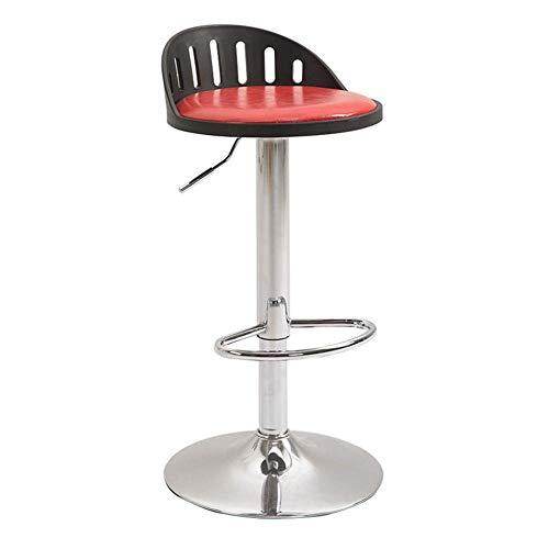 AFD Barhocker, Nordic Drehsessel Aus Leder (Verstellbar 60-80Cm) Für Die Küche.Bar.Café,A,Stuhl (Stuhl Küche Drehsessel Bar)