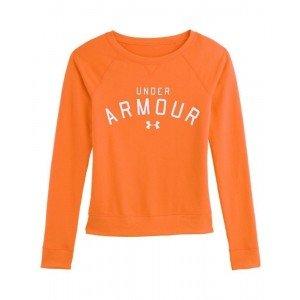 Under Armour Womens Pretty Gritty Blackout Sweatshirt Orange