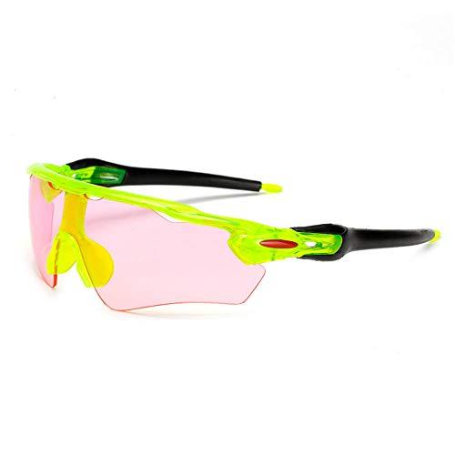 ANSKT Männer und Frauen professionelle Fahrradsonnenbrille leichte Fahrradsportbrille UV400 schwarzer Rahmen grüne Beine + grüne Tabletten