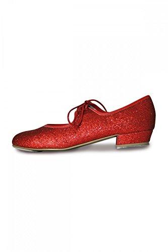 rote glitzernde Steppschuhe Rot 3 (36) (Rot Dorothy-schuhe Für Mädchen)