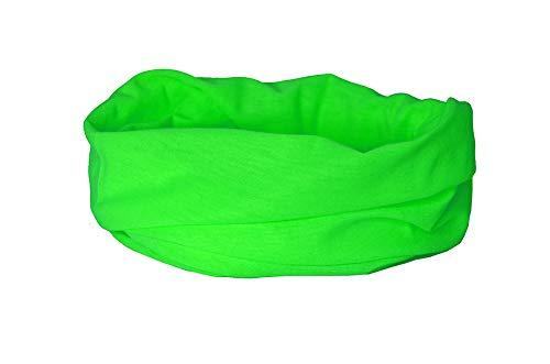 Ruffnek Verde Fluorescente Calentador Cuello/Polaina - Pañuelo de Cabeza Multiuso Seguro y Visible...