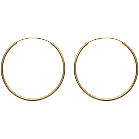 Orecchini a cerchio placcato in oro, diametro