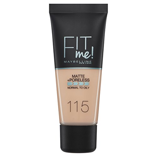 Maybelline Fit me - 115 Ivory - Foundation 30ml Botella Líquido base de maquillaje - Base de maquillaje (Ivory, Piel normal, Mujeres, Botella, Líquido, ffd3be)