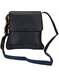 Carry ME Export Quality Leather Sling Bag In Blue Colour (28 X 26 X 4 Cm)