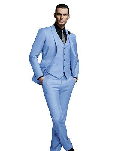FRANK Herren 3-teiliger klassischer Slim Fit Tuxedo-Anzug im Business-Look (Frank 2019 Halloween)