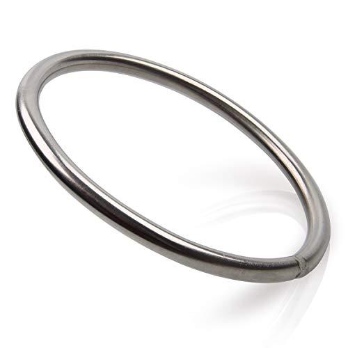 OROOTL Edelstahl Ringe (geschweißt und poliert), 5 Stck Marine Hardware 316 Hochfester Marine Grade Ring für Boote Jagen Fischen Reisen