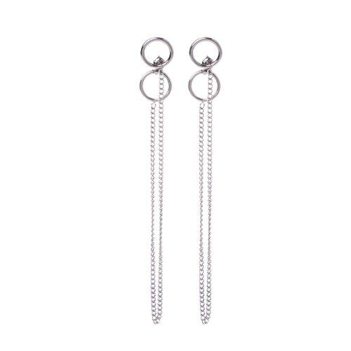 KPOP BTS Bangtan DNA V Kim Tae Hyung Titanium Tassel Earrings Korean Jewelry