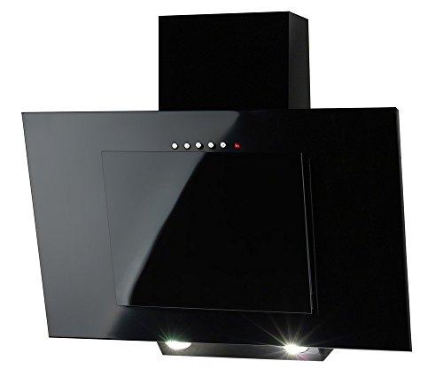Campana WK de 4Nero negro 60cm 320M3/H-Campana extractora de pared cubierta + 2x Filtro de carbón Soft