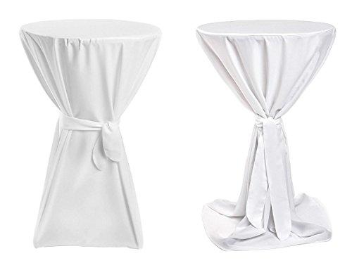 Stehtischhussen Premium - Weiß 70cm Durchmesser