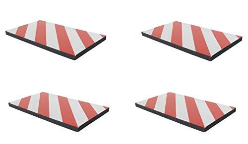FSWP4425RWx4 Pare-chocs, adhésives, fabriqué à partir de mousse, pour protéger les parkings, entaillé pour s