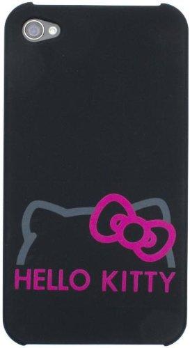 Hello Kitty Hard Case Hülle Etui für iPhone 4/4S - Schwarz/Pink