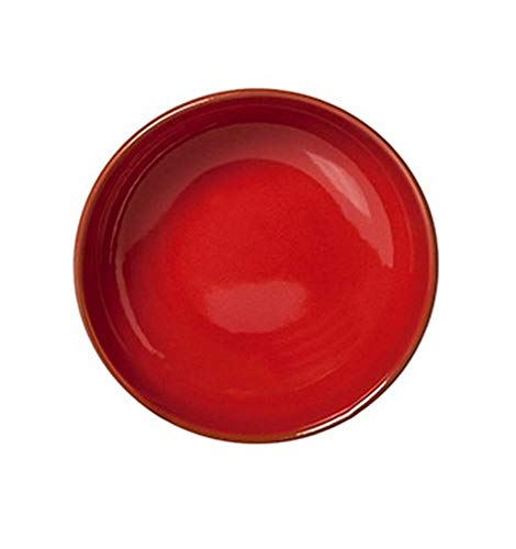 Assiette creuse en terre cuite rouge 6 pièces, diamètre 190 mm
