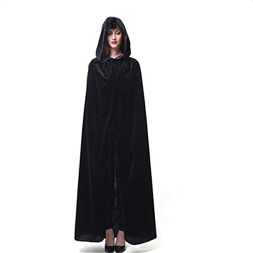 Fablcrew Halloween-Umhang (Erwachsene), Größe XL, 170 cm, Schwarz