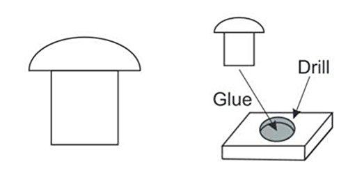 Plus-Model 462-Accesorios de construcción Rivets 1.0mm