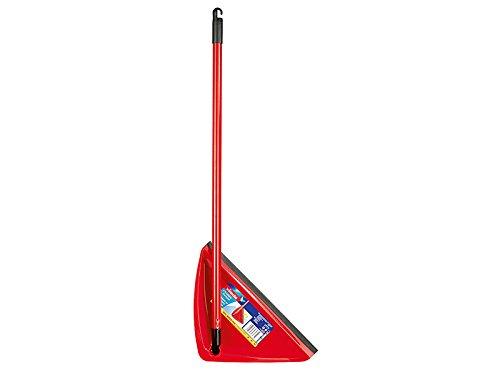 Vileda Alzaimmondizie - Scopa con manico Extralarge pieghevole, Manico da 80 cm, Rosso