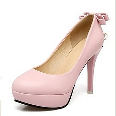 RTRY Donna Comfort Tacchi Pu Primavera Estate Casual Arrossendo Rosa Bianco Nero 5In &Amp; Oltre US5 / EU35 / UK3 / CN34