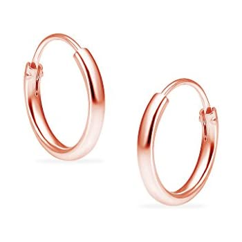 Premium Flash Rose Gold Flashed Sterling Silver Small