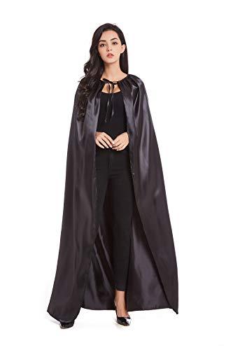 Crizcape costumes cape lunghezza intera costume cosplay di halloween adulto mantello mantello cavaliere streghe vampiri nero