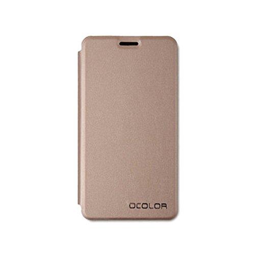 Oukitel C3 Hülle Golden, Frlife | Bookstyle Handyhülle Premium PU-Leder klapptasche Case Brieftasche Etui Schutz Hülle für Oukitel C3
