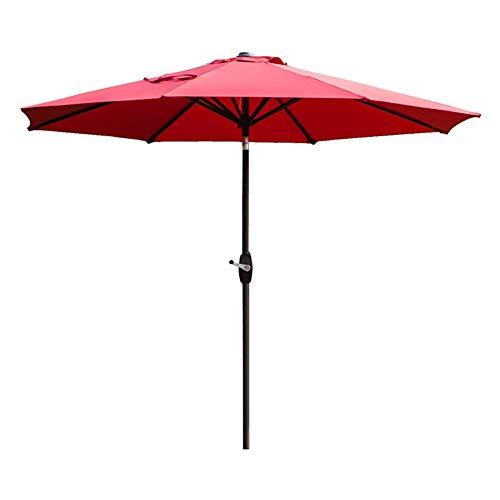 Sonnenschirme Gartenschirm 9Ft Market Umbrella Patio Outdoor Tischschirm mit Belüftung, Yard Umbrella mit Druckknopf, Neigung und Kurbel, Weinrot (Ft 9 Sonnenschirm)