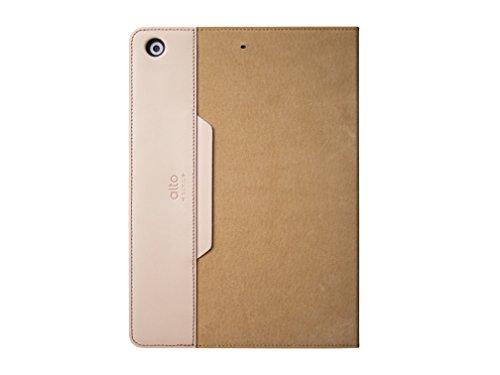 Beige Tan Khaki (ALTO handgefertigt Premium italienischem Leder Wildleder Schutzhülle für Apple iPad Mini 2/3Furbo, H 20.8cm * W 14.3cm * D 1.5cm, Khaki)
