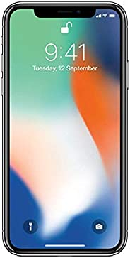 Apple iPhone X 64Go Argent (Reconditionné)