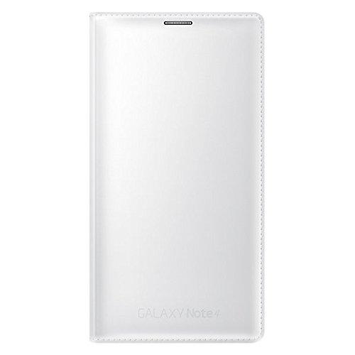 Samsung EF-WN910FTEGWW Flip Wallet Cover mit Visitenkartenfach Classic Edition Galaxy Note 4 weiß
