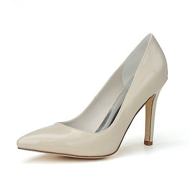 Rtry Femme Moccassins & Amp; Slip-ons Chaussures Formelles Printemps Été En Cuir Verni Robe Talon Aiguille Amande Ruby Blanc Noir 3a-3 3 / 4en Us6 / Eu36 / Uk4 / Cn36