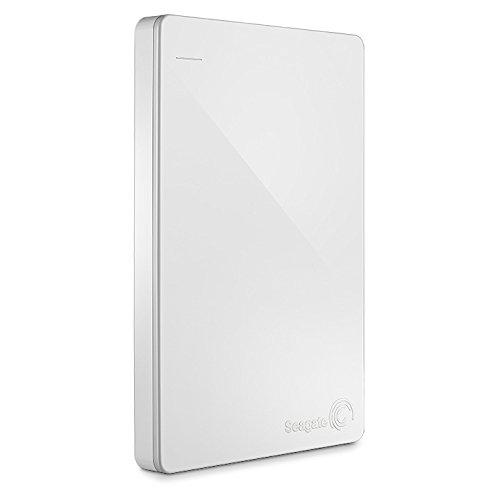 Seagate Backup Plus Slim 1TB Externe tragbare Festplatte, weiss, inkl. Datenrettungsservice und Backup für mobile Geräte, usb 3.0, PC und MAC