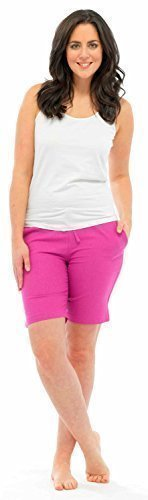 Desire Clothing Pantalon en lin Motif Casual Short de plage et les vacances Rose