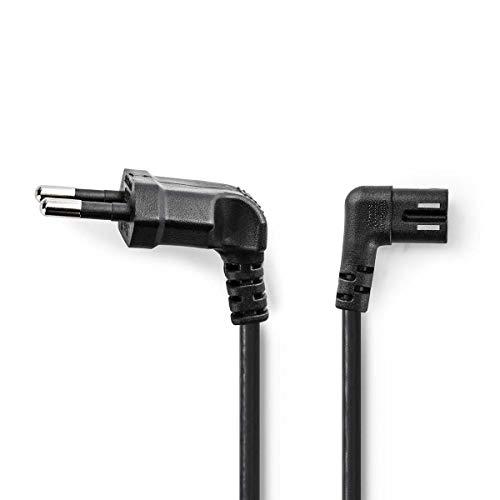 TronicXL 2 Meter Euro 8 Netzkabel Winkel Strom Kabel Winkelstecker für TV/Radio/zb für Apple TV Samsung LG etc