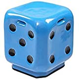 #10: STOOL DICE BLUE Premium High Quality FIBER Material UNBREAKABLE Durable Dice Sitting Stool (FIBER) For Living Room/Home/Office/Bathroom/Outdoor Stool With Anti-Skid Rubber| Stool With Sturdy compact and stylish.
