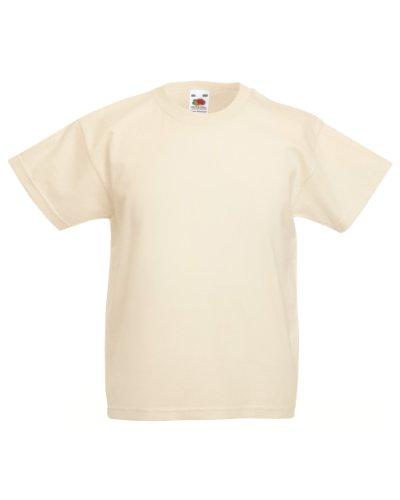 Fruit of the Loom Kinder Unisex T-Shirt, kurzärmlig 3-4-jährige,Natur