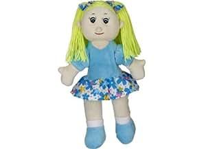 """** Promo ** Adorable Bouillotte Peluche pour enfant filles """"Poupée"""" bleue"""