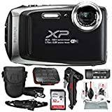 Fujifilm FinePix XP130 Waterproof & Shockproof Wi-Fi Digital Camera (Silver) with 32GB Card