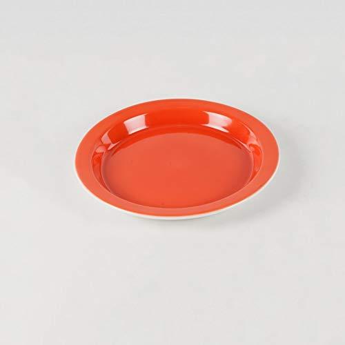 Assiette antidérapante à rebords en porcelaine extra dure