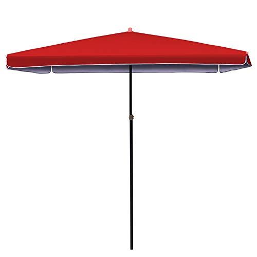 Sonnenschirme Gartenschirm Blauer/Roter Patio-Markt Regenschirm Im Freien, Vervollkommnen Für Balkon-Tisch-Terrasse-Garten-Plattform-Yard-Schatten Oder Pool-Seite, Rechteckig/Quadrat (Markt Sonnenschirm Blau)